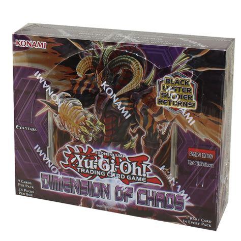 yu gi  cards dimension  chaos booster box