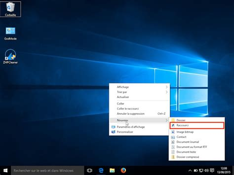 raccourci bureau windows 8 mettre un raccourci sur le bureau 28 images optimiser