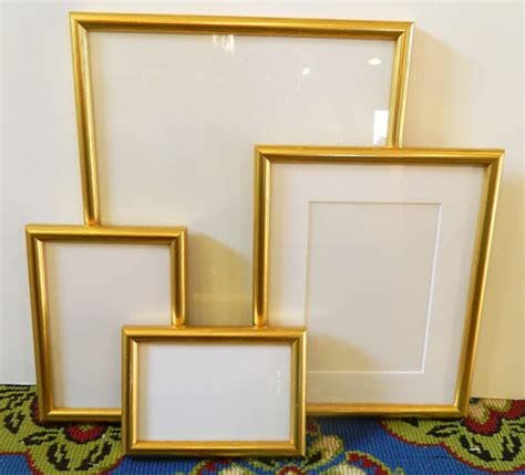 picture frames for wedding tables set of 4 bright gold picture frames wedding tables favors