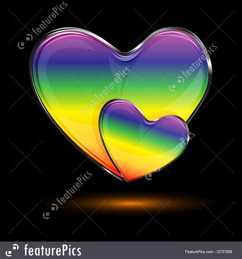 Abstract Forms Colorful Hearts Stock Illustration