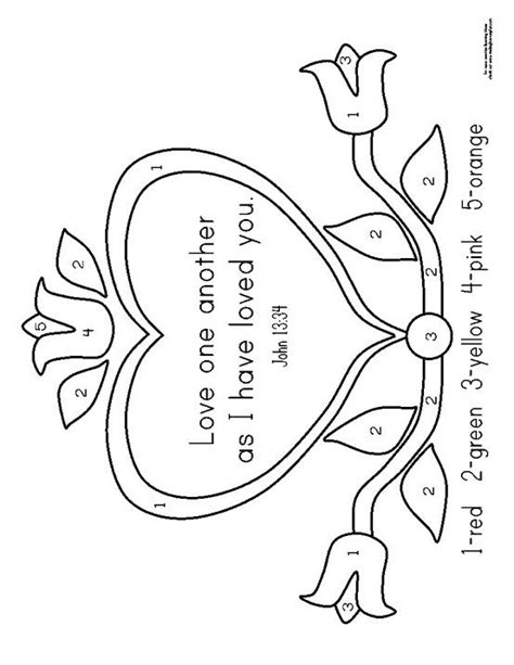 Love One Another Color Sheet Bible Coloring Pages