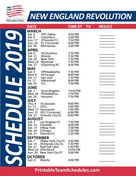 england patriots schedule