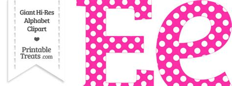 hot pink polka dot letter  clipart