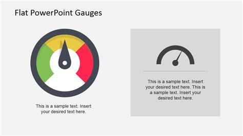flat colorful gauge illustration slidemodel