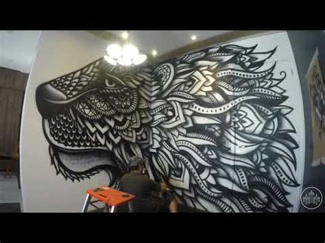 spray painted lion zentangle  danilo roots youtube