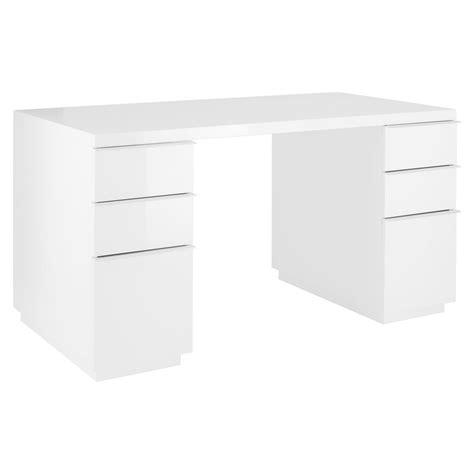 white office table desk madison office desk white dwell