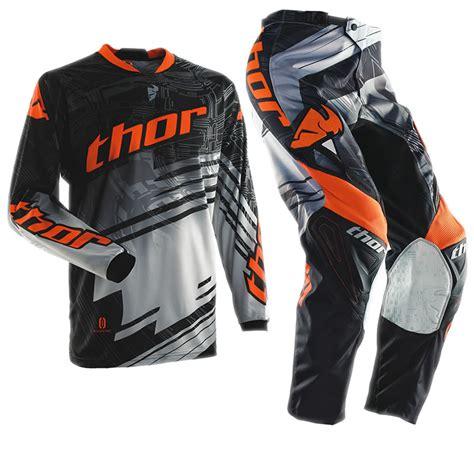 thor motocross jersey thor 2014 phase s14 youth swipe orange mtb mx combo jersey