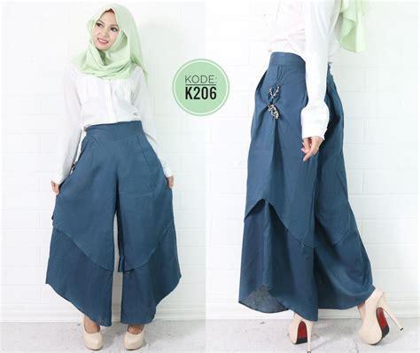 layer culot  baju hijab style ootd