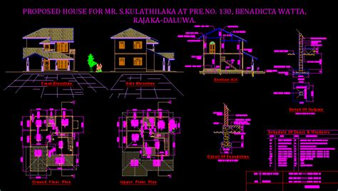 housing design  autocad cad   mb bibliocad