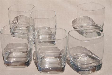 retro libbey carrington square glass tumblers