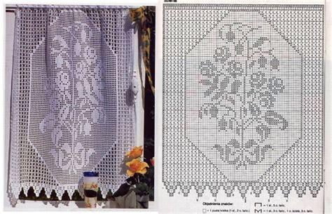 rideau avec bouquet des fleurs grille filet crochet