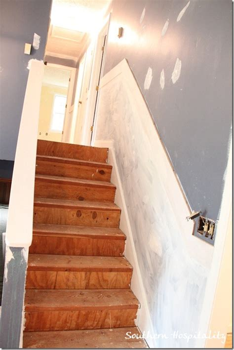 painted stairs  adding runners southern hospitality