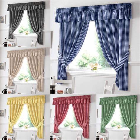 Drapes In Kitchen - gingham kitchen curtains