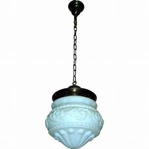 Lighting fixture globes : Large neoclassical globe pendant light fixture from