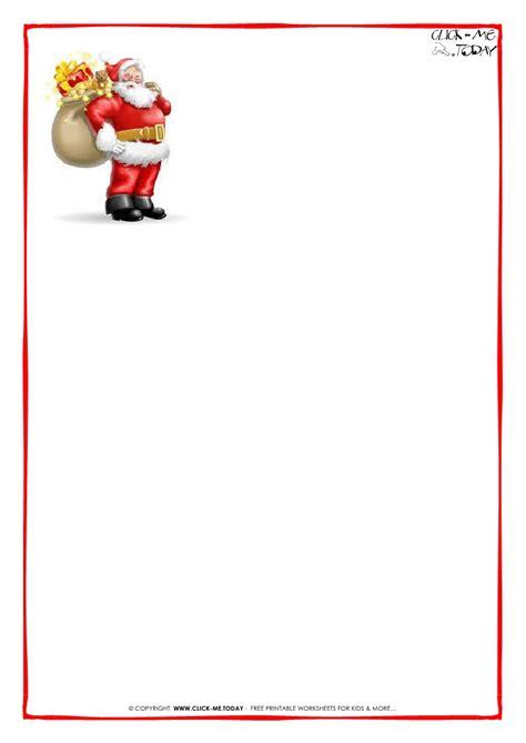 printable letters  santa claus template christmas