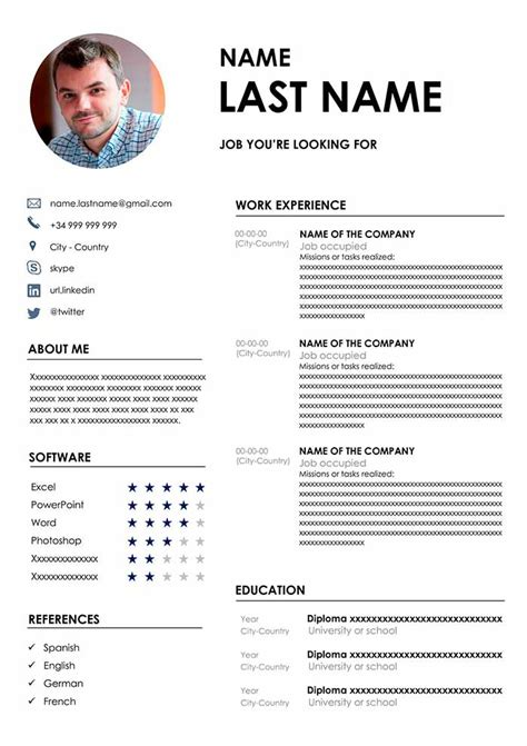 Free Cv Format Template by The Best Cv Format Free Cv Template For Word