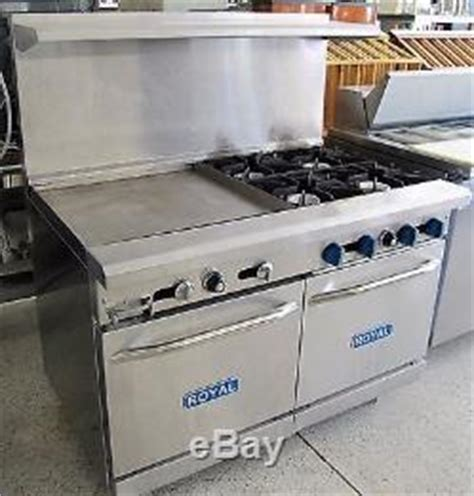 royal  burner  flat top griddle gas stove range model rr