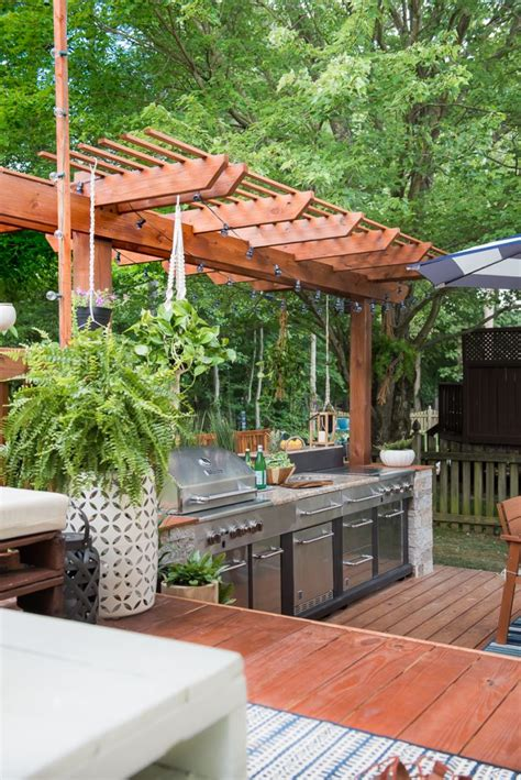 backyard built amazing outdoor kitchen you want to see