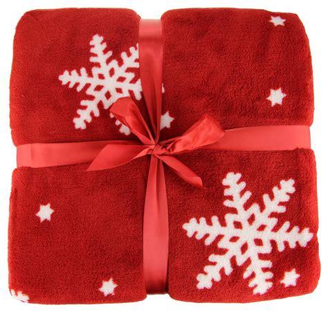 christmas throw blanket festive fleece plush  cosy snowflake nordic reindeer ebay