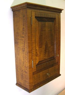 hand crafted tiger maple spice cabinet wall cupboard