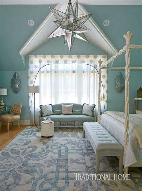 Serene Showhouse Bedrooms by The Soothing Seaside Palette In This Bedroom Stems From
