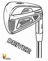Coloring Golf Clubs Driver Yescoloring Atv Sports Pga Titleist Instrument Wheeler Sheets Piano Need Keyboard Printables Template sketch template