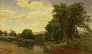 New England Landscape Painting by Aaron Draper Shattuck