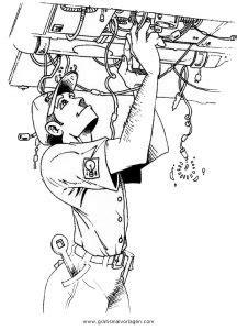 elektriker  gratis malvorlage  berufe handwerk