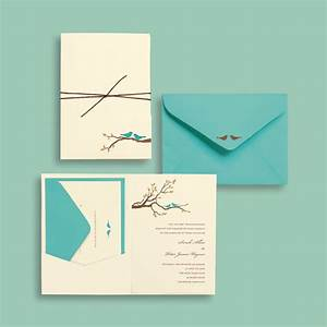 diy wedding invitations the fun bride With michaels bird wedding invitations