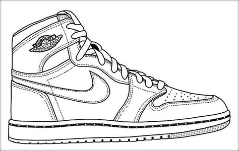 Coloring Nike Air 1 by Drawing Shoes At Getdrawings Free For