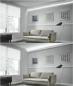 Indirekte Beleuchtung Wohnzimmer : stuckleisten led indirekte beleuchtung wohnzimmer weiss lichtleiste oben unten beleuchtung ~ Watch28wear.com Haus und Dekorationen