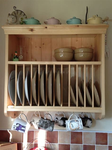 traditional vintage solid pine wood kitchen wall mounted