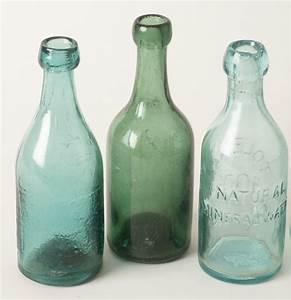 four, antique, soda, bottles