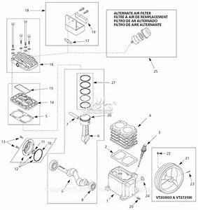 Campbell Hausfeld Vt6310 Parts Diagram For Pump Parts