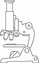 Microscope Clipart Clip Line Microscopes Cartoon Outline Template Blank Science Pages Biology Cliparts Others Inspiration Clipground Coloring Labeled Printable Sheet sketch template