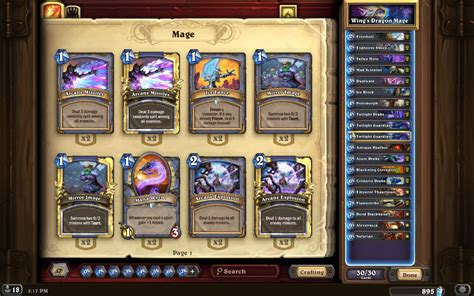 cheap druid deck hearthpwn tgt wing s legendary mage hearthstone decks