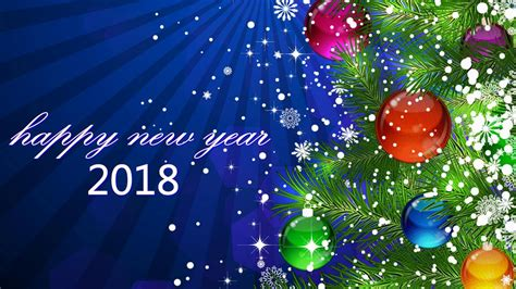 Happy New Year Hd Wallpaper 2018  Merry Christmas & Happy