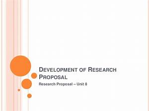 how to develop research proposal