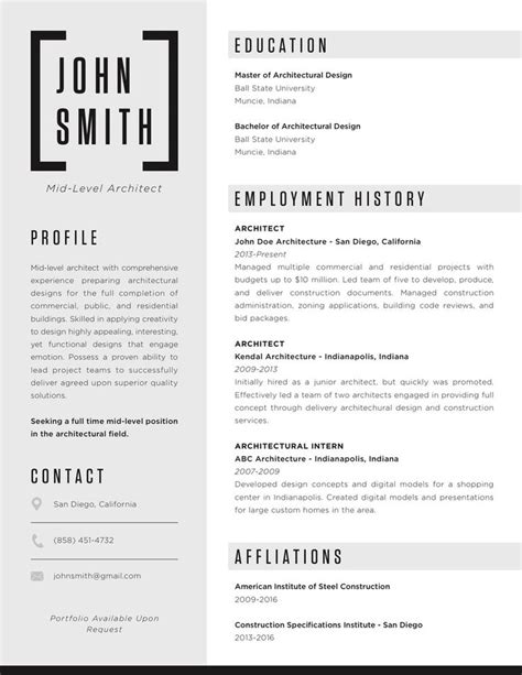 Architecture Resumes And Portfoliosarchitecture Resumes And Portfolios by The 25 Best Architect Resume Ideas On
