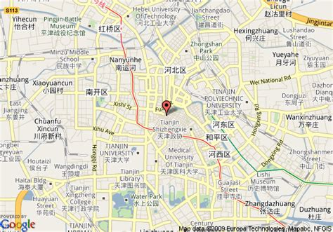 map   western tianjin juchuan tianjin