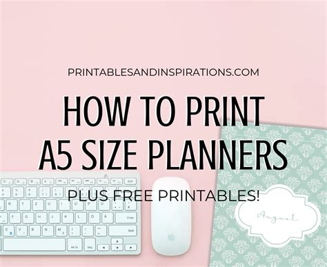 print  size planner inserts  printables