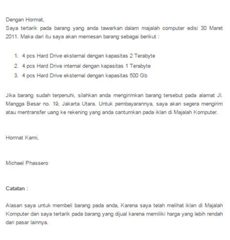 Contoh Surat Pemesanan Jasa by Contoh Beberapa Surat Penawaran Barang Dan Jasa Yang