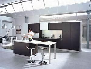 Modele De Cuisine Cuisinella : une cuisine noire pour une d co lumineuse ~ Premium-room.com Idées de Décoration
