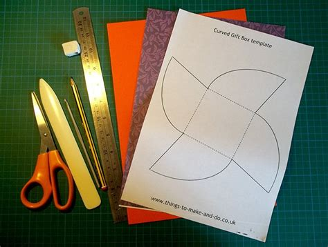 Curved Box Template by Things To Make And Do Make And Decorate A Curved Gift Box