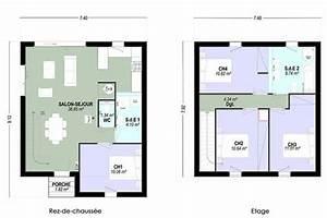 Plan Maison A Etage 4 Chambres 13 Individuelle C T Tage