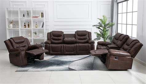 Air Sofa Set by New 3 Pcs Air Leather Microfiber Sofa Set Rocker