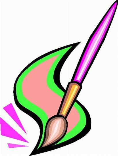 Brush Paint Clipart Clip Paintbrush Brushes Cliparts