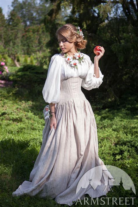 corset skirt snow white  sale   green flax linen blue flax linen yellow flax