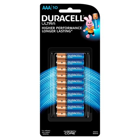 Duracell Aaa Ultra Batteries  10 Pack  Bunnings Warehouse