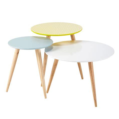 tables basses gigognes vintage multicolores   cm    cm fjord maisons du monde